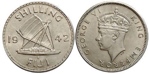 1 Shilling Fidschi Silber Georg VI (1895-1952)
