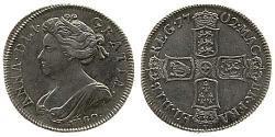 1 Shilling Königreich Großbritannien (1707-1801) Silber Anne (Großbritannien)(1665-1714)