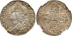 1 Shilling Königreich Großbritannien (1707-1801) Silber Georg II (1683-1760)