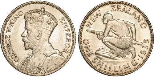 1 Shilling Neuseeland Silber George V (1865-1936)