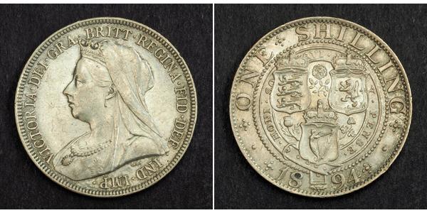 1 Shilling Vereinigtes Königreich von Großbritannien und Irland (1801-1922) Silber Victoria (1819 - 1901)