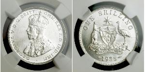 1 Shilling Australia (1788 - 1939) Silver George V of the United Kingdom (1865-1936)