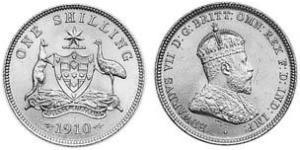 1 Shilling Australia (1788 - 1939) Silver Edward VII (1841-1910)