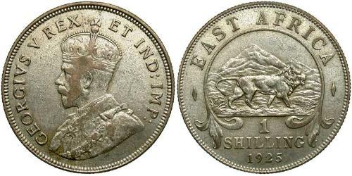 1 Shilling East Africa Silver George V of the United Kingdom (1865-1936)
