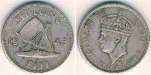 1 Shilling Fiji Silver George VI (1895-1952)
