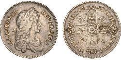 1 Shilling Kingdom of England (927-1649,1660-1707) Silver Charles II (1630-1685)