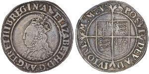 1 Shilling Kingdom of England (927-1649,1660-1707) Silver Elizabeth I (1533-1603)