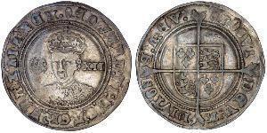 1 Shilling Kingdom of England (927-1649,1660-1707) Silver Edward VI  (1537-1553)