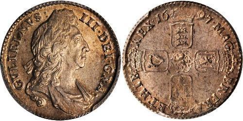1 Shilling Kingdom of England (927-1649,1660-1707) Silver William III (1650-1702)