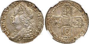 1 Shilling Kingdom of Great Britain (1707-1801) Silver George II (1683-1760)