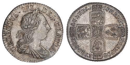 1 Shilling Kingdom of Great Britain (1707-1801) / British Empire (1497 - 1949) Silver George III (1738-1820)