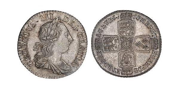 1 Shilling Kingdom of Great Britain (1707-1801) / British Empire (1497 - 1949) Silver George III (1738-1820)