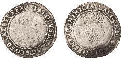 1 Shilling Kingdom of Ireland (1542-1651, 1659-1801) Silver James I (1566-1625)