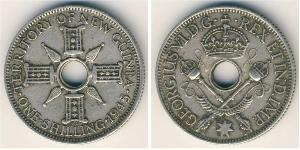 1 Shilling New Guinea Silver George VI (1895-1952)