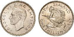 1 Shilling New Zealand Silver George VI (1895-1952)