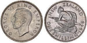 1 Shilling New Zealand Silver George VI (1895-1952)