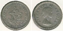 1 Shilling South Africa Silver Elizabeth II (1926-)