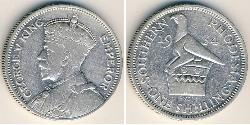 1 Shilling Southern Rhodesia (1923-1980) Silver George V of the United Kingdom (1865-1936)