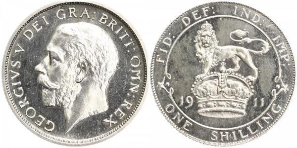 1 Shilling United Kingdom Silver George V of the United Kingdom (1865-1936)