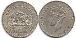 1 Shilling África Oriental
