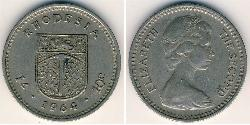 1 Shilling / 10 Cent Rhodesia (1965 - 1979) Copper/Nickel Elizabeth II (1926-)