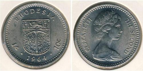 1 Shilling / 10 Cent Southern Rhodesia (1923-1980) Copper/Nickel Elizabeth II (1926-)