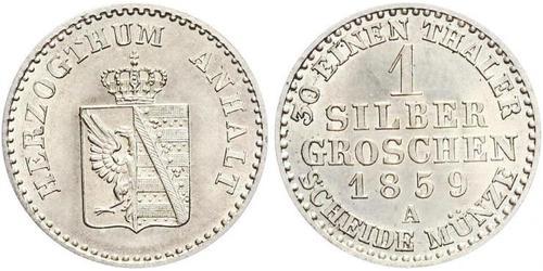 1 Silbergroschen Anhalt-Bernbourg (1603 - 1863) Argent Alexandre-Charles d
