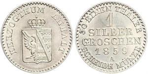 1 Silbergroschen Anhalt-Bernburg (1603 - 1863) Argento Alessandro Carlo di Anhalt-Bernburg(1805 – 1863)