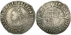 1 Sixpence 英格兰王国 銀 Elizabeth I (1533-1603)