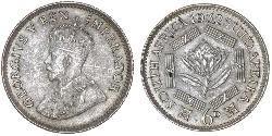 1 Sixpence Sudafrica Argento Giorgio V (1865-1936)
