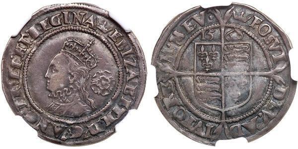 1 Sixpence Reino de Inglaterra (927-1649,1660-1707) Plata Isabel I (1533-1603)