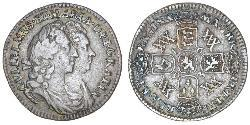 1 Sixpence Kingdom of England (927-1649,1660-1707) Silver William III (1650-1702)