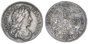 1 Sixpence Kingdom of England (927-1649,1660-1707) Silver Charles II (1630-1685)