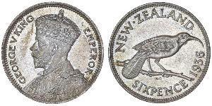 1 Sixpence New Zealand  George V of the United Kingdom (1865-1936)