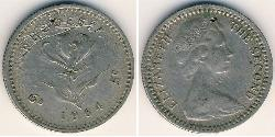 1 Sixpence / 5 Cent Rhodesia (1965 - 1979) Copper/Nickel