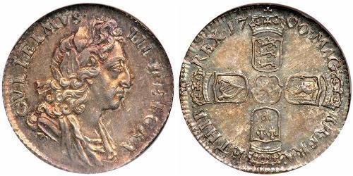 1 Sixpence / 6 Penny 英格兰王国 銀 威廉三世 (奥兰治)
