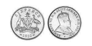 1 Sixpence / 6 Penny Ôstralie (1788 - 1939) Argent Édouard VII (1841-1910)