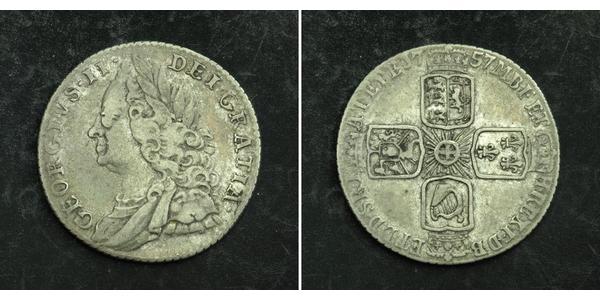 1 Sixpence / 6 Penny Royaume de Grande-Bretagne (1707-1801) Argent George II (1683-1760)