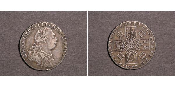 1 Sixpence / 6 Penny Regno Unito  Argento Giorgio III (1738-1820)