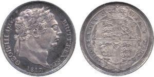 1 Sixpence / 6 Penny Regno Unito di Gran Bretagna e Irlanda (1801-1922) Argento Giorgio III (1738-1820)