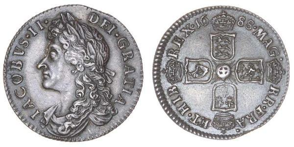 1 Sixpence / 6 Penny Regno d