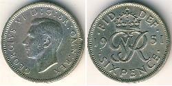 1 Sixpence / 6 Penny Vereinigtes Königreich (1922-) Kupfer/Nickel George V (1865-1936)