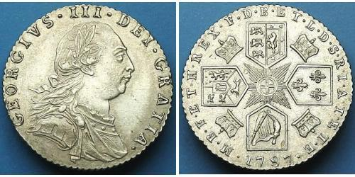 1 Sixpence / 6 Penny Reino Unido Plata Jorge III (1738-1820)