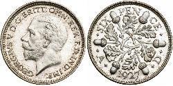 1 Sixpence / 6 Penny Reino Unido (1922-) Plata Jorge V (1865-1936)