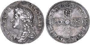 1 Sixpence / 6 Penny Königreich England (927-1649,1660-1707) Silber Jakob II (1633-1701)