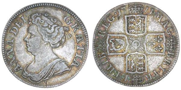 1 Sixpence / 6 Penny Königreich Großbritannien (1707-1801) Silber Anne (Großbritannien)(1665-1714)