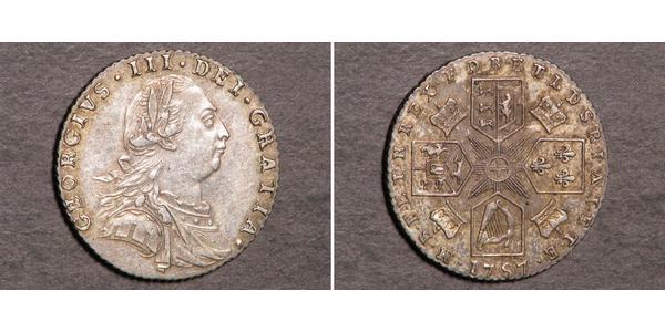 1 Sixpence / 6 Penny Vereinigtes Königreich Silber Georg III (1738-1820)