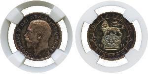 1 Sixpence / 6 Penny Vereinigtes Königreich von Großbritannien und Irland (1801-1922) Silber George V (1865-1936)