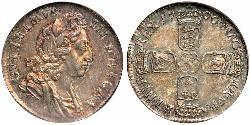 1 Sixpence / 6 Penny Kingdom of England (927-1649,1660-1707) Silver William III (1650-1702)