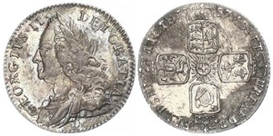 1 Sixpence / 6 Penny Kingdom of Great Britain (1707-1801) Silver George II (1683-1760)